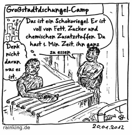 Comic Großstadtdschungelcamp