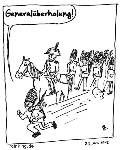 comic cartoon generalüberholung general armee