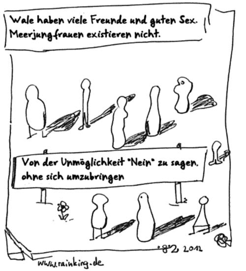Comic Blumfeld zitat Dada selbstmord Wal Meerjungfrau