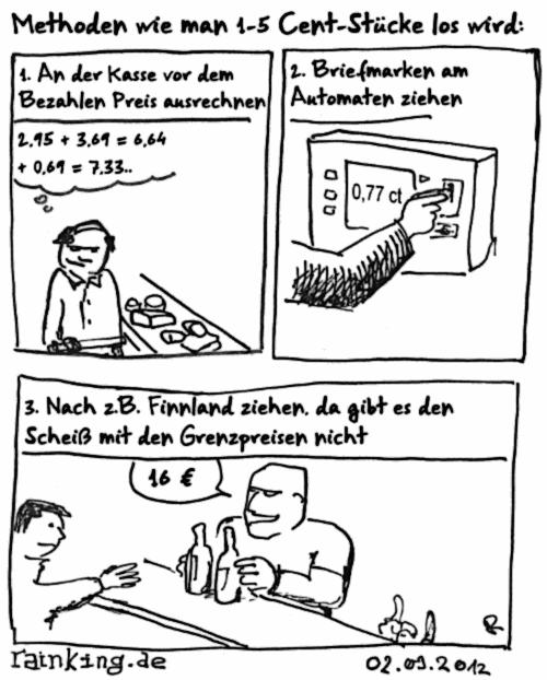 comic cent grenzpreise kleingeld finnland