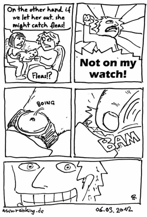 comic fleas flöhe watch pun