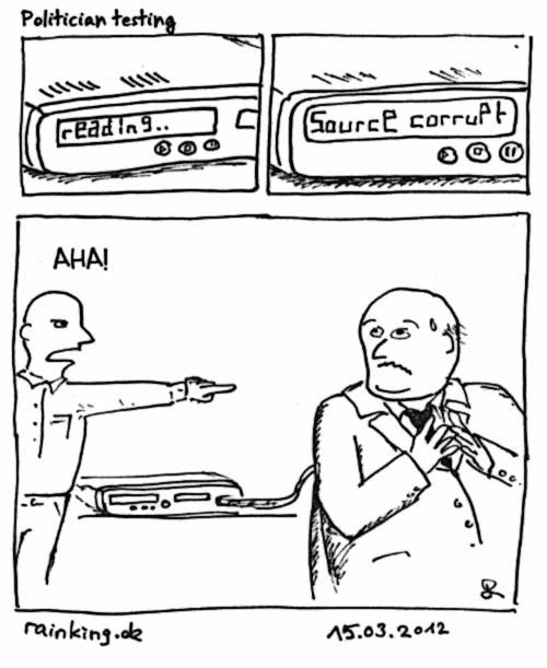 comic politician politiker korrupt corrupt dvd player