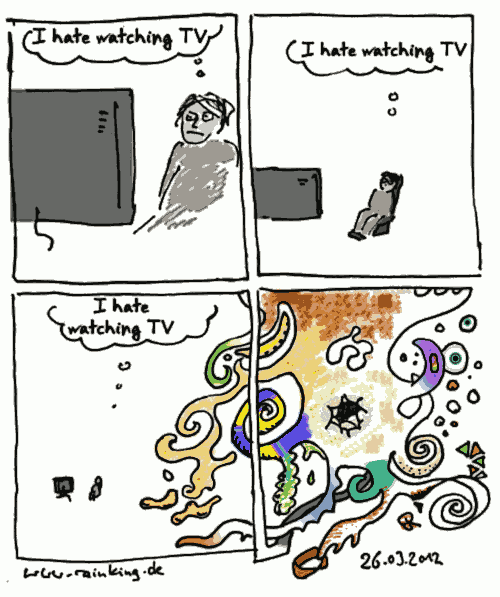 comic watching tv waste of time
