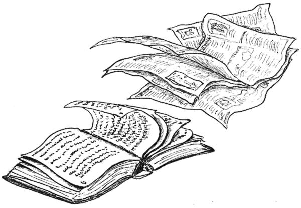 illustration buch zeitung wehen wind dkb