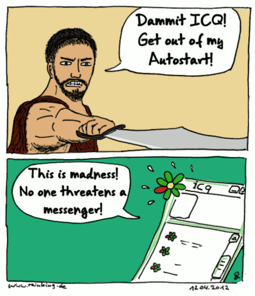 comic 300 this is sparta instant messenger threaten icq autostart