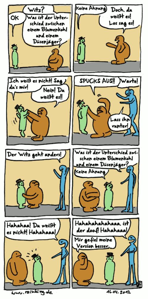 comic witz varianten mobbing auslachen angreifen drohen