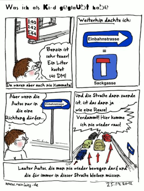 comic kind tankstelle benzinpreis einbahnstraße reuse autos sackgasse