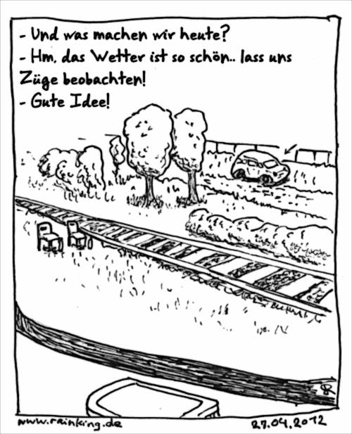 comic trainspotting zug züge sonne wetter