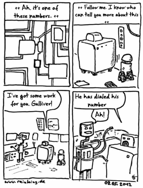 comic last call roboter