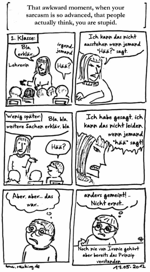 comic awkward moment sarcasm schule Grundschule Mißverständnis