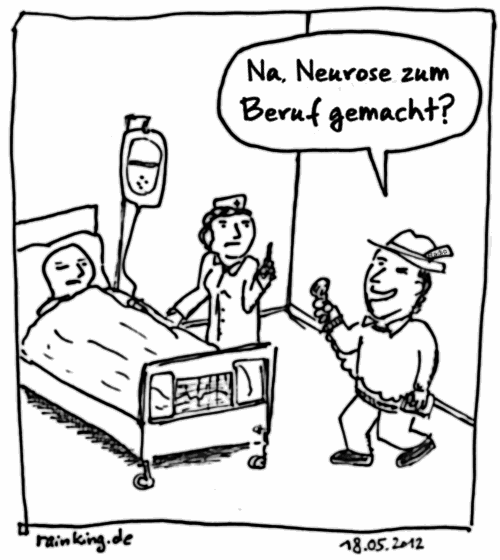 cartoon helfersyndrom neurose krankenschwester radio Presse interview