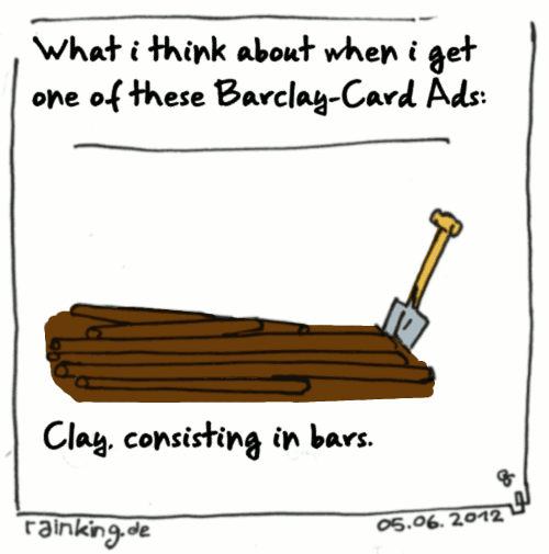 cartoon barclay card bar clay