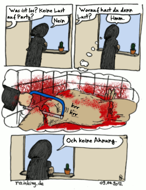 comic keine lust lustlos blut gemetzel mord säge