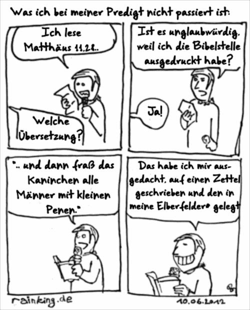 comic predigt elberfelder zitat glaubwürdig