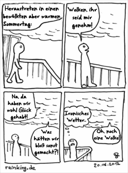comic wolken ironie