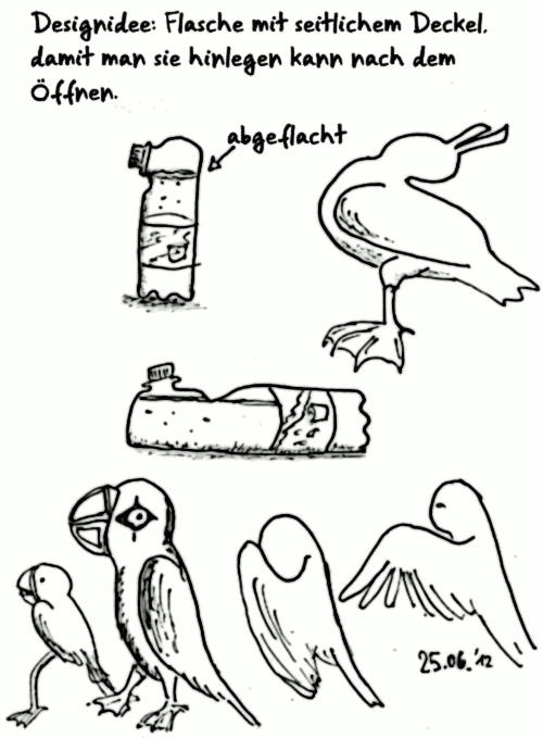 comic idee flaschen seitlicher deckel