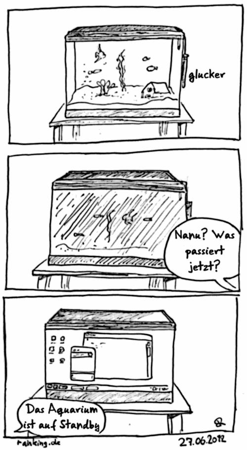 comic aqurium bildschirmschoner