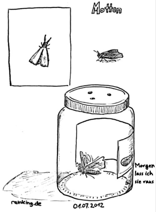 Motte moth peanut butter jar erdnussbutterglas