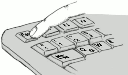 tastatur escape flucht tippen