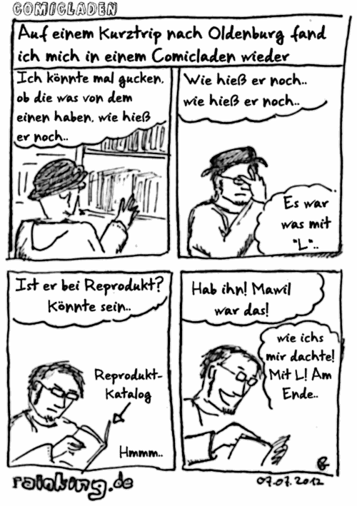 comic mawil comicladen reprodukt