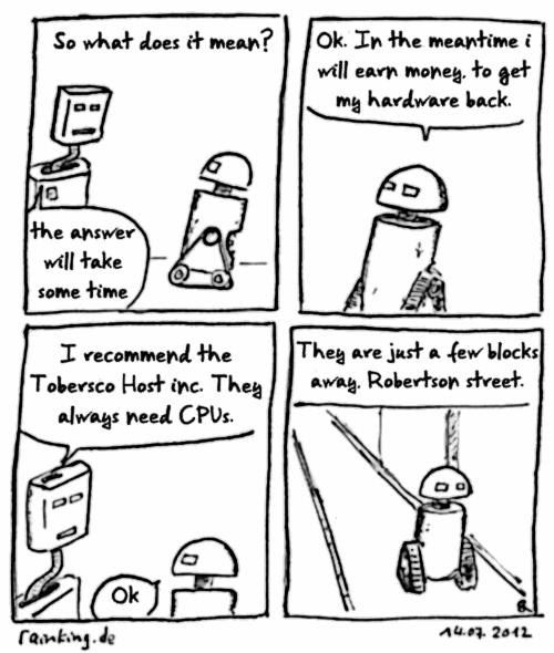 last call comic robot
