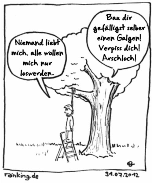Baum Suizid loswerden