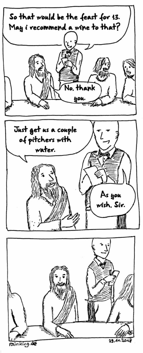 Jesus Wasser Wein
